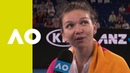 Simona Halep on court interview 2R Australian Open 2019
