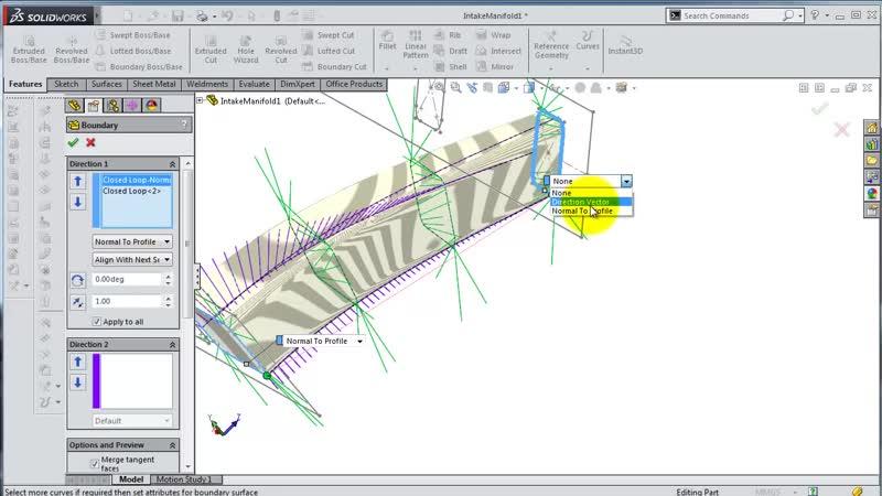 SolidWorks ʬ Tutorial 194 car- Intake Manifold