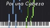 Por una Cabeza - Carlos Gardel Piano Tutorial (Synthesia) Genti Guxholli