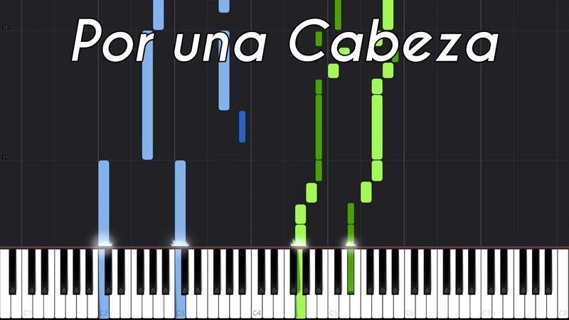 Por una Cabeza - Carlos Gardel [Piano Tutorial] (Synthesia) Genti Guxholli