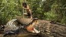 OMG A forest man make Crocodile trap by wood How to make crocodile trap