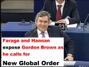 Farage and Hannan expose Gordon Brown as he calls for New Global Order
