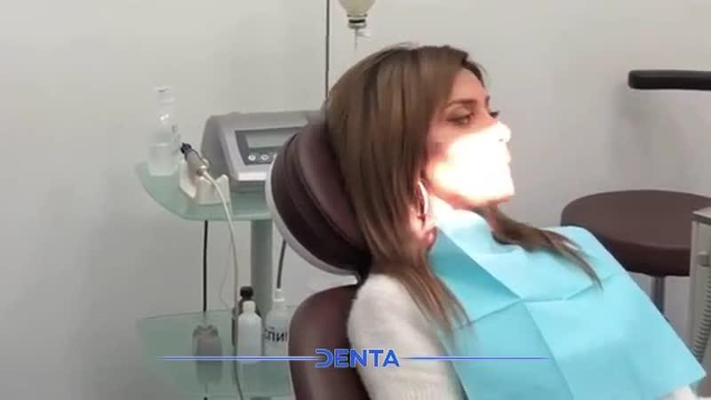 Установка формирователя десны на имплант Astra Tech для Оксаны Овсепян в клинике Denta