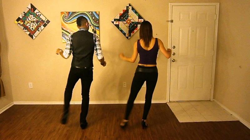 Jay Stylz showing No Tengo Corazon Bachata Footwork w/ Music!