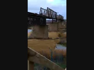 Демонтаж гужевого моста в Каменске-Шахтинском