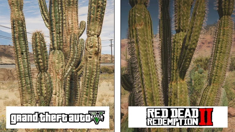 Red Dead Redemption 2 (ONE X) vs GTA V (PC Ultra) | Graphics Details Comparison | Comparativa