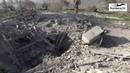 Огненный ад «Русвесна» побывала на месте ночных авиаударов по Сирии 21.01.19 - В результате авиаудара Израиля в этом месте было повреждено здание. Съемка 030-102 непосредственно оттуда