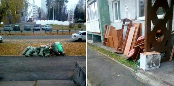 Крупногабаритный мусор на улицах Усть-Илимска