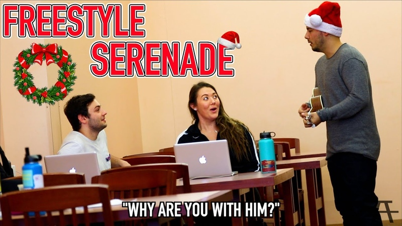 FREESTYLE SERENADING IN THE LIBRARY!!