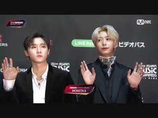 [VK][181212] MONSTA X Red Carpet at 2018 MAMA @ Mnet K-POP