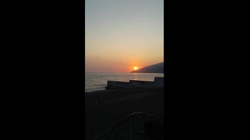 закат в Гаграх 2019