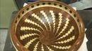 Segmented Ash, Jatoba and Walnut Bowl | Segment Skål 21 | Woodturning