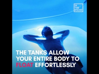 Futuristic sensory deprivation tanks