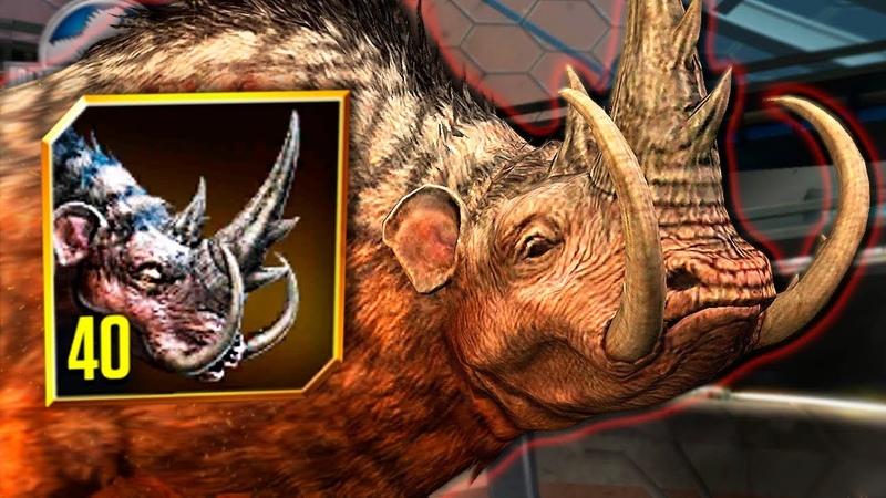 NEW MAMMOTHERIUM MAX LVL 40 | CENOZOIC HYBRID MAXED! - Jurassic World - The Game | Ep. 275