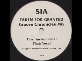 [5][135.00 C] sia ★ taken for granted ★ groove chronicles remix