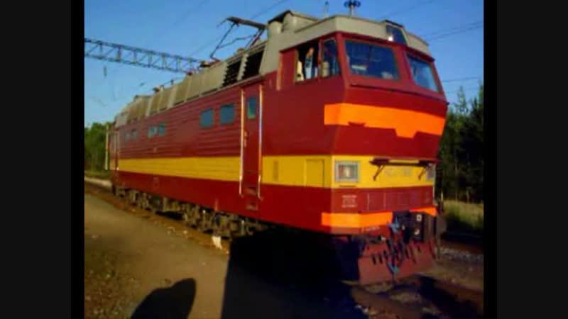 ЧС2К и ЧС4Т (смена локомотива), ст. Вековка ГЖД, 2006 г.