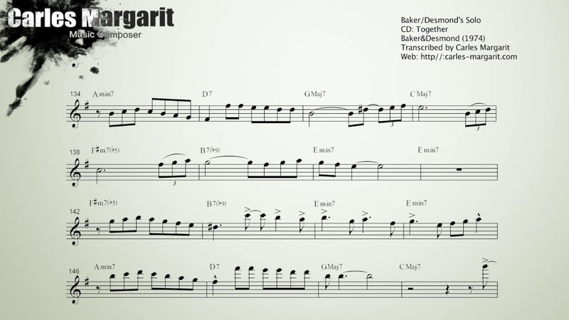 Autumn Leaves Baker Desmond's Solos Transcribed by Carles Margarit