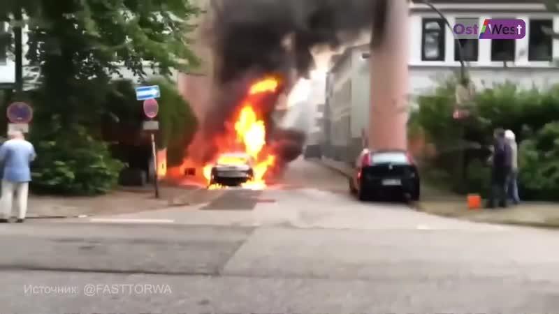В Гамбурге начался суд над поджигателями машин