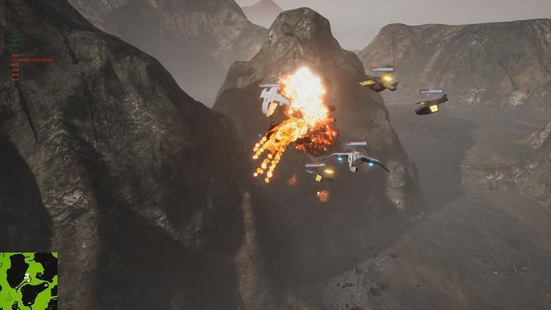Gunships Fight Test [UE4 concept]