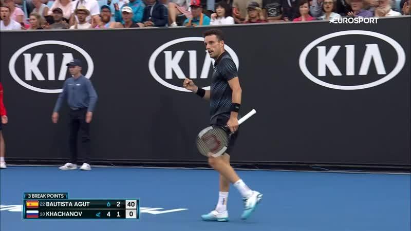 Баутиста завершил выступление Хачанова на Australian Open