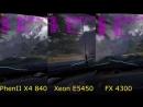 [Technobench] Phenom II X4 840@3.6 vs Xeon E5450@3,6 vs FX 4300@3.6 GTX 970 in 17 Games