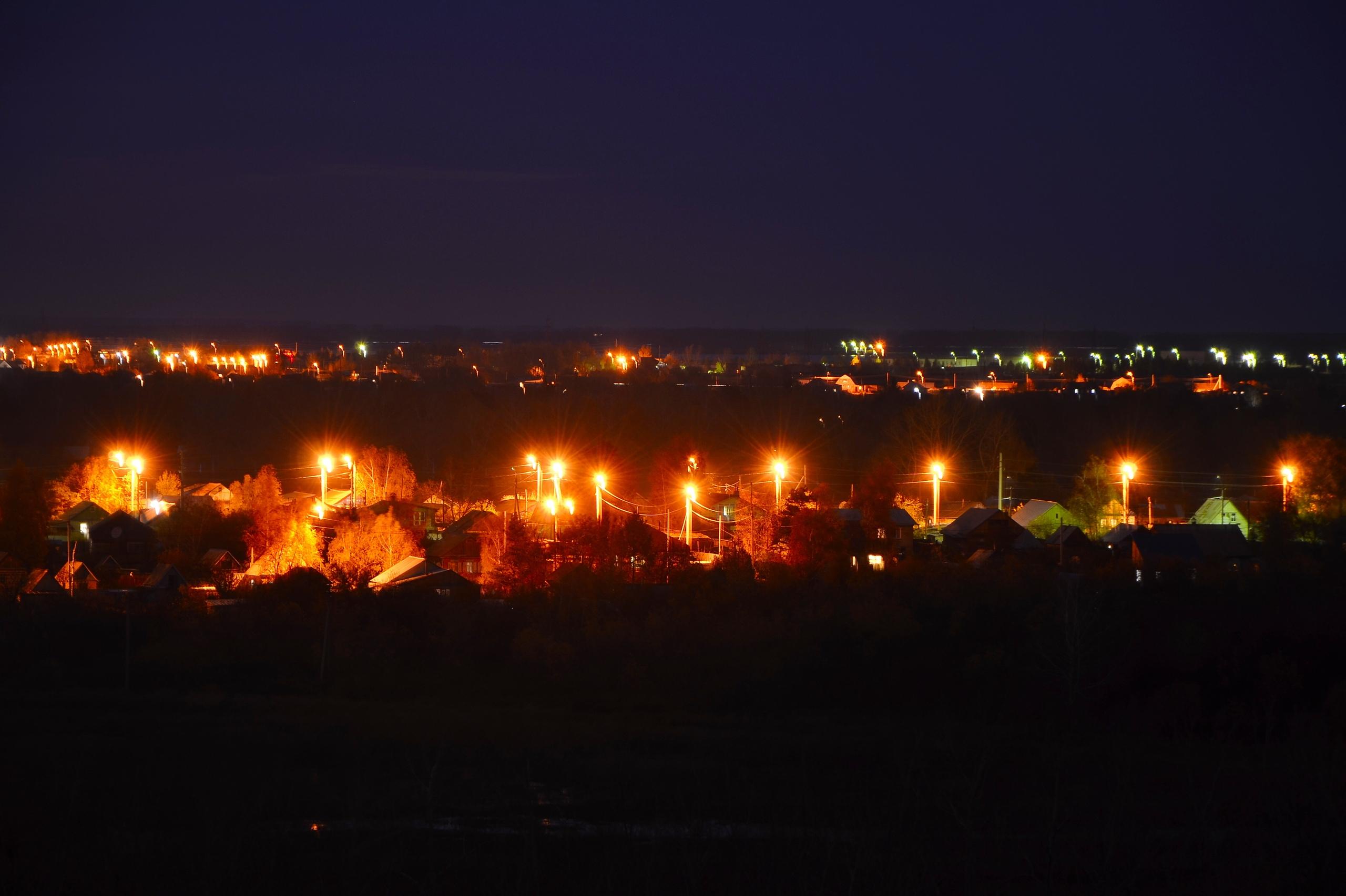 Вид на Заречный поселок и чумовой закат