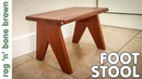 Making A Mid Century Style Step Stool / Foot Stool