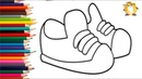 Coloring shoes Paint for toddlers and drawing for kids