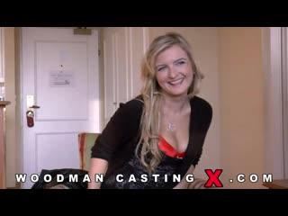 Канадка Jemma Valentine, в красном белье пришла на кастинг к Вудману получила DP и насали в рот