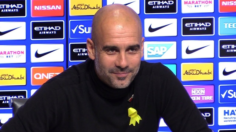 Pep Guardiola Pre-Match Press Conference - Manchester City v Manchester United - Manchester Derby