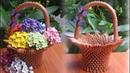 How To Make 3D Origami Flower Basket V2 cómo hacer cesta de flores de origami 3D
