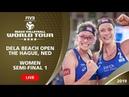 The Hague 4 Star 2019 Women SF1 Beach Volleyball World Tour
