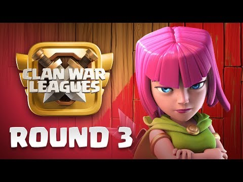 Clan War Leagues - War Strategy - Clash of Clans - Round 3 |Sc studio