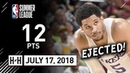 Josh Hart Full Highlights vs Blazers 2018 07 17 NBA Summer League 12 Pts EJECTED