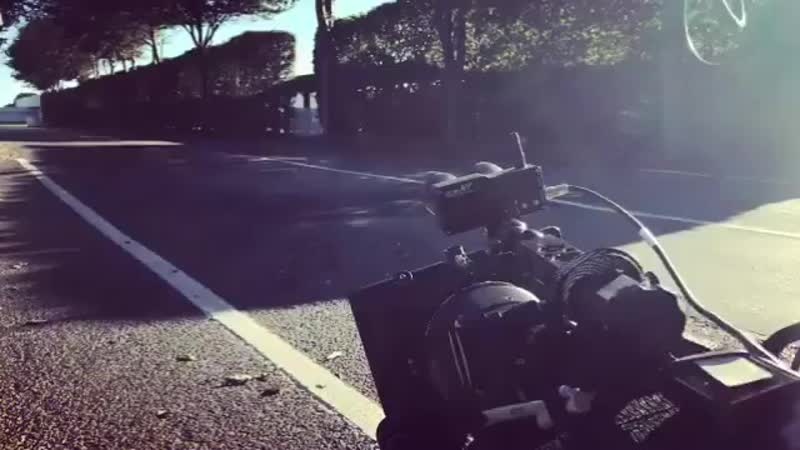 A little camera shake for impact on this low angle Dutch tilt with some dry leaves thrown on the road for good measure.