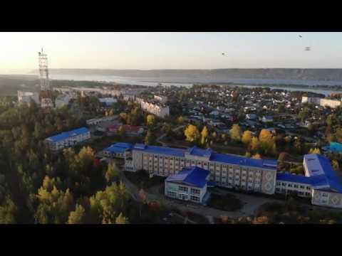 Панорама Звенигово с высоты птичьего полета