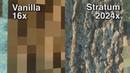 Minecraft Vanilla vs Stratum 2048x Pt.1 Forest [4K/60FPS]