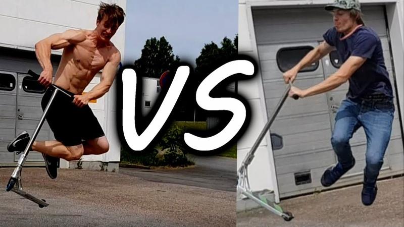 Henrik Palm vs Kalle Korpela - FLAT SCOOT V5! (UNREALISTIC TRICKS)