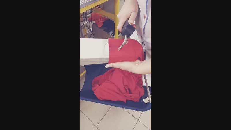 Процесс выведения пятна с платья - 2
