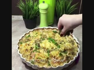 Вкусная картошечка с говядиной и вешенками - vk.com/tricks_lf
