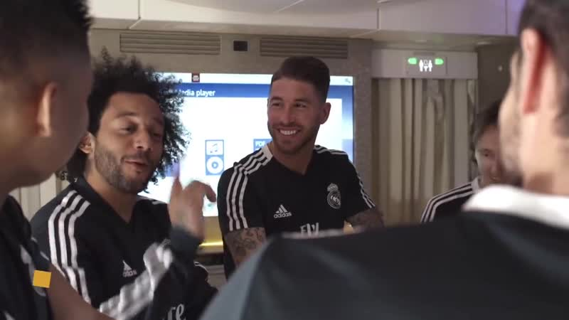 Find out how Sergio Ramos, Marcelo, Gareth Bale, Luka Modric, Raphael Varane and Casemiro pass the time while travelling on the
