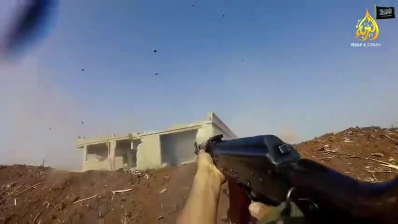 Сирия 19 06 2019 Атака поста САА ближний бой между бойками Исламской Партии Туркестана и бойцами ВС САР север провинции Хама.