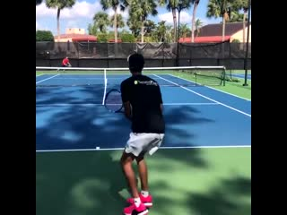 Tennis training with former atp player and now coach brian dabul training for us.mp4