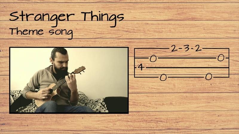 Stranger Things Theme song UKULELE TUTORIAL W/ LYRICS
