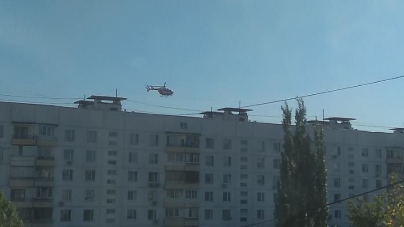 вертолет над ЧЦ
