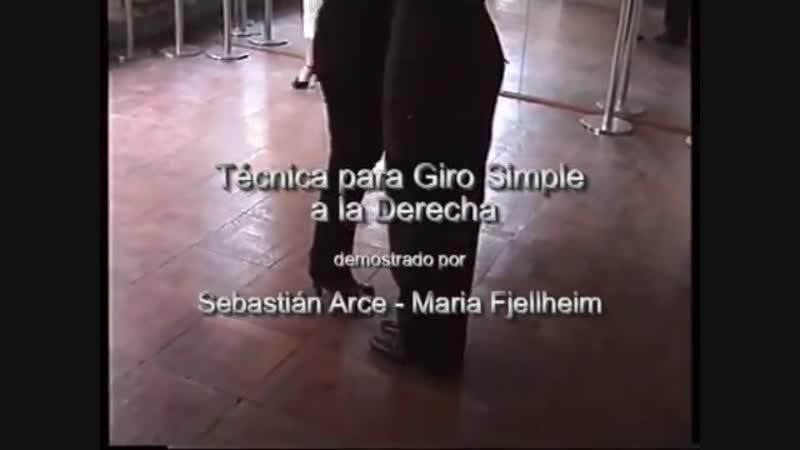 Sebastian Arce Maria Fjellheim - Técnica para girar a la Derecha (Technique to Turn Right)