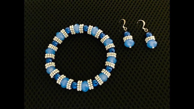 Make your own Seed bead Spacer. Beaded Spacer Stretch Bracelet.