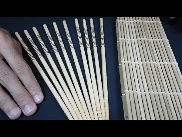 ASMR 🥢Chopsticks to help you relax and sleep 🥢 Wood sounds | Bamboo mat | No talking