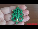 44' TUTORIAL FACILE ALBERO NATALE CHIACCHIERINO AD AGO CHRISTMAS NEEDLE TATTING FRIVOLITE'