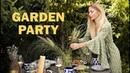 GARDEN PARTY jak udekorować stół Zdrowe jedzenie